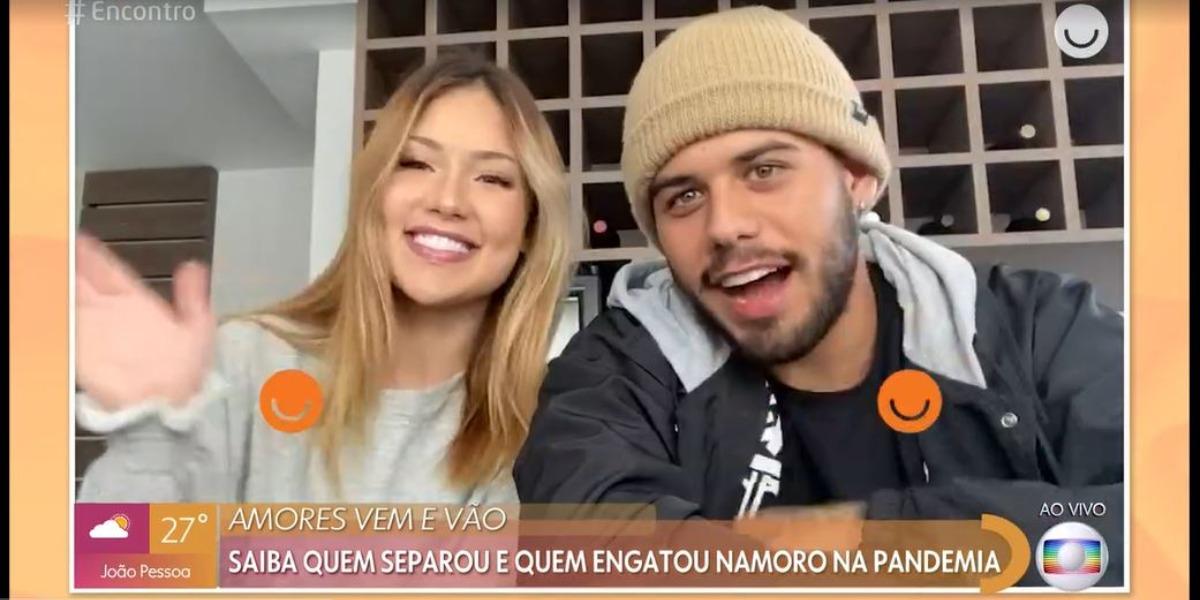 Virgínia Fonseca e Zé Felipe deram entrevista ao Encontro Com Fátima Bernardes (Foto: Reprodução/TV Globo)