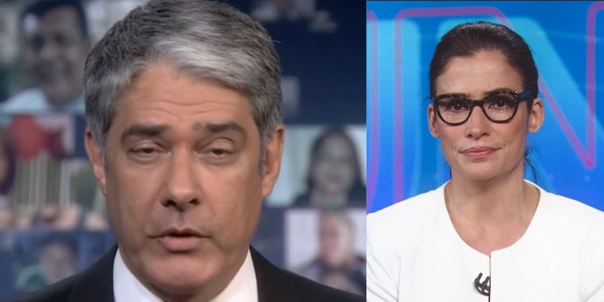 William Bonner tem se humilhado com Renata Vasconcellos (Foto: Reprodução/TV Globo)