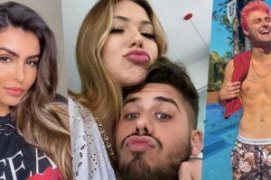 Zé Felipe recebeu uma indireta da ex, assim como sua atual (Foto montagem: TV Foco)