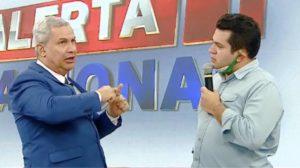 Sikêra Jr. ao lado de Bruno Fonseca, o Brunoso (foto: Reprodução/RedeTV!)