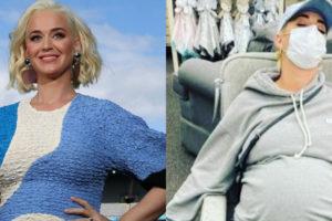 Katy Perry dorme em poltrona de loja (Foto: Reprodução)