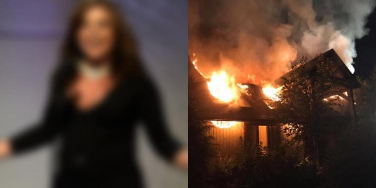 Apresentadora tem casa destruída após incêndio (Foto: Reprodução)