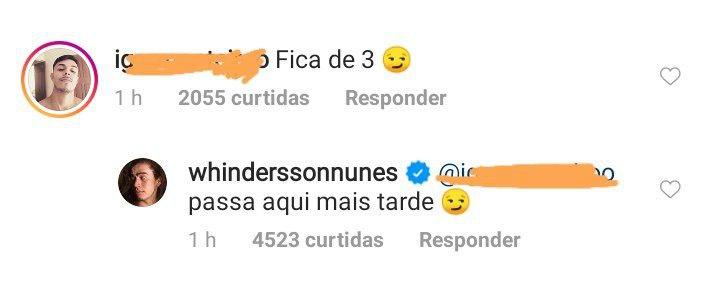 Whindersson Nunes brincou com comentário (Foto: Reprodução)