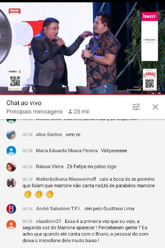 Marrone soltou a voz durante live e foi ovacionado pelos internautas (Foto: Reprodução)