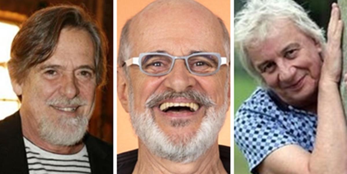 José de Abreu, Marcos Caruso e Marco Nanini (Foto: Montagem/TV Foco)
