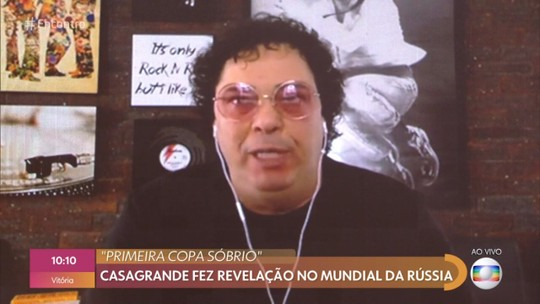 O comentarista Casagrande participou do Encontro com Fátima Bernardes (Foto: Divulgação)