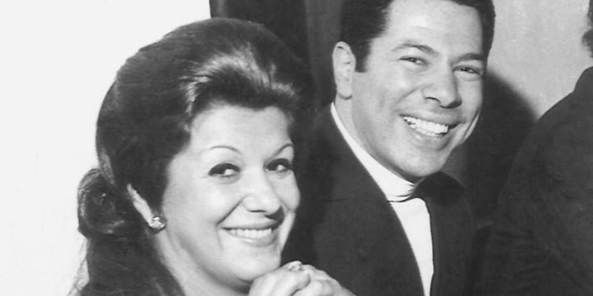 Cida e Silvio Santos nos anos 70 (Foto: Reprodução)