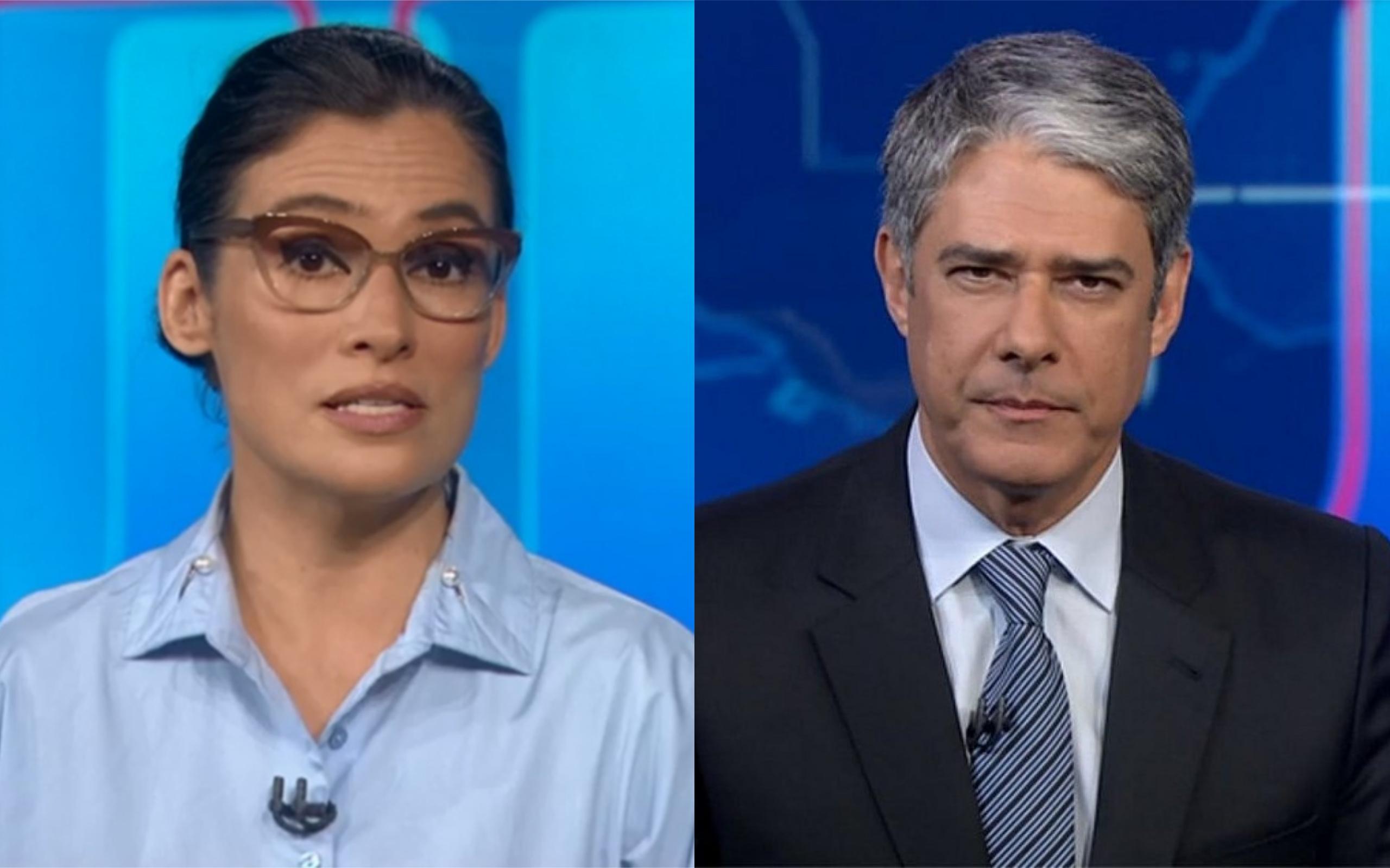 Renata Vasconcellos e William Bonner no Jornal Nacional (Foto: Divulgação)