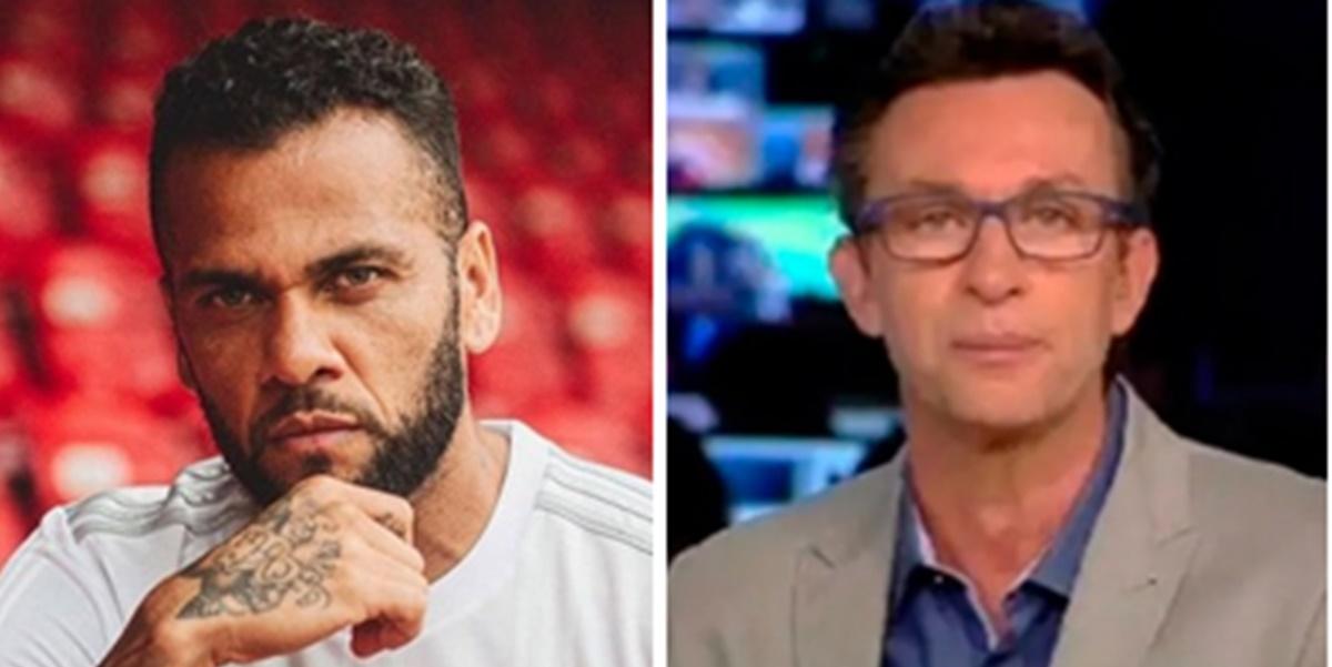 Daniel Alves criticou programa de Neto na Band (Foto: Montagem/TV Foco)