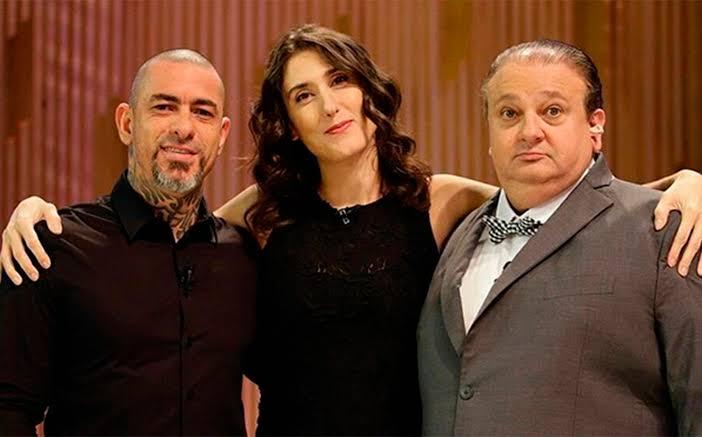 Henrique Fogaça, Paola Carosella e Erick Jacquin são os jurados do MasterChef Brasil (foto: Divulgação/Band)