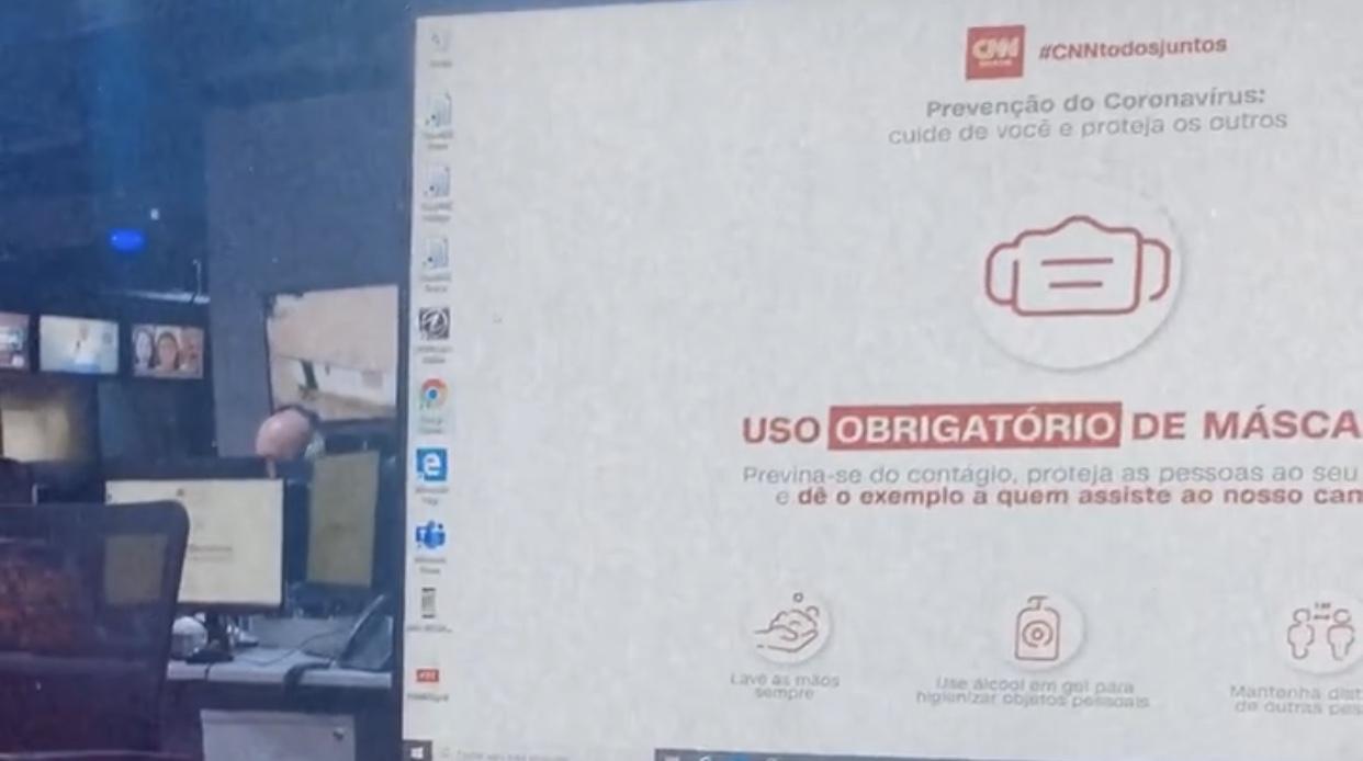 CNN Brasil pede para que funcionários usem máscaras (foto: Reportagem/TV Foco)