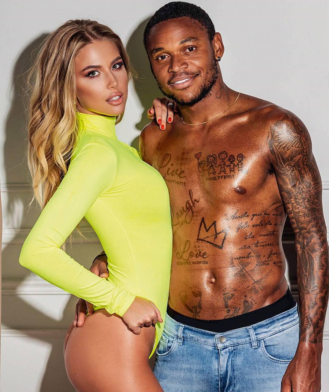 O jogador Luiz Adriano trocou a esposa por outra; atleta do Palmeiras e a modelo casaram há menos de um ano (Reprodução)