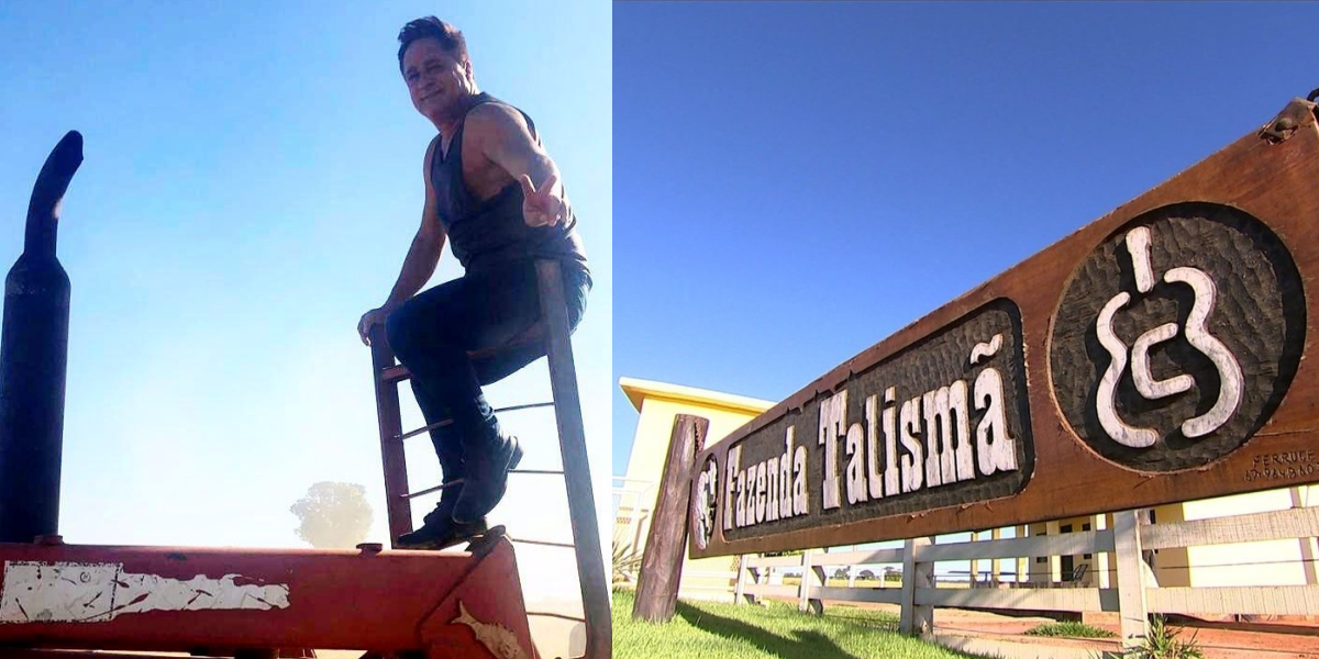 Leonardo abre as portas de sua fazenda em Goiás (Foto: Reprodução)