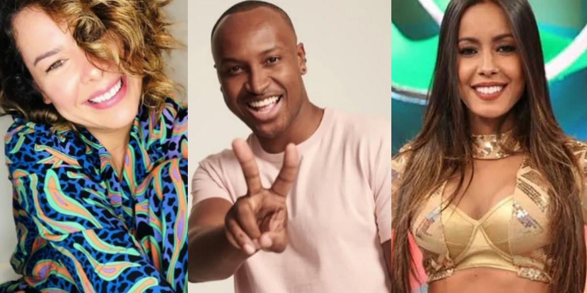 Fernanda Souza, Thiaguinho e Tati Scarletti (Foto: Montagem)