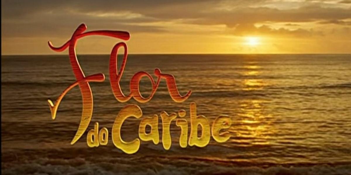 Logo da novela Flor do Caribe (Imagem: Reprodução)
