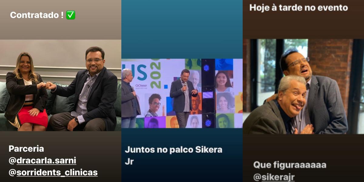 Geraldo Luís e Sikêra Jr. em programa comercial (Foto: Montagem)