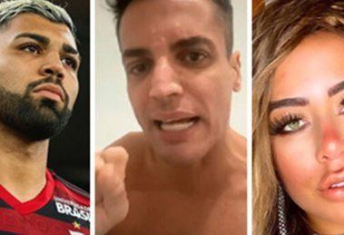 Gabigol traiu Rafaella Santos com D, segundo Leo Dias (Foto: Montagem/TV Foco)