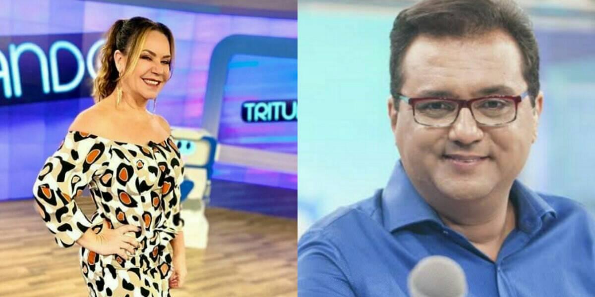 Flor revelou durante o Tritutando, no SBT, que viu o apresentador Geraldo Luís sem roupas (Foto: Reprodução)