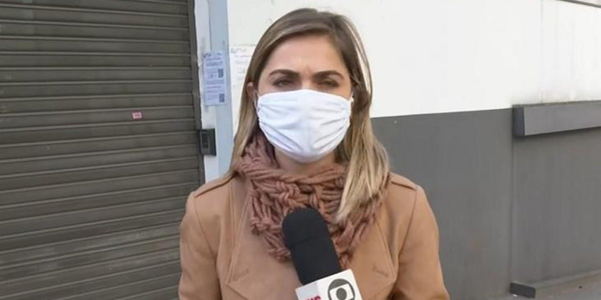 Luiza Vaz: Homem invadiu link ao vivo da Globo durante reportagem no Bom Dia Brasil (Foto: Reprodução)