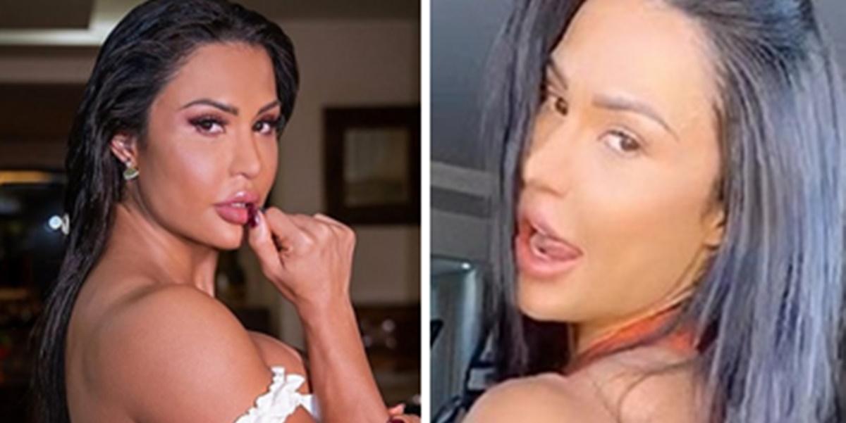 Gracyanne Barbosa apareceu em vídeo ousado nas redes sociais (Foto: Montagem/TV Foco)