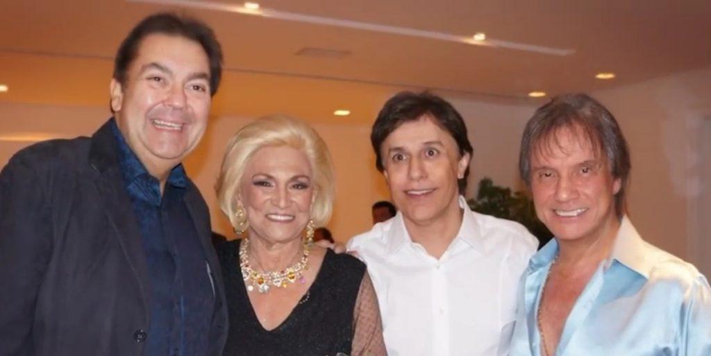 Hebe Camargo esteve ao lado de diversas estrelas em seu último aniversário. (Foto: Divulgação)