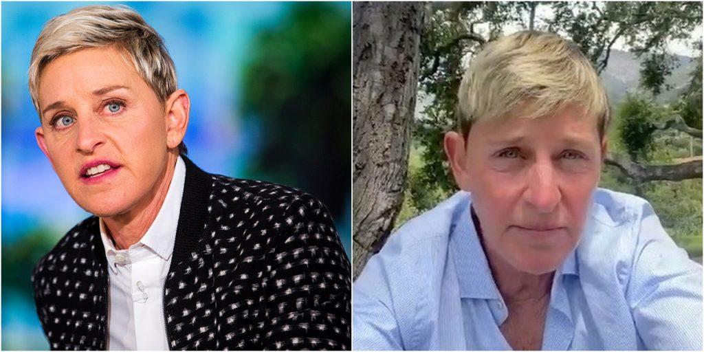Ellen DeGeneres é alvo de acusações de ex-funcionários do seu programa. (Foto: Montagem/Reprodução)