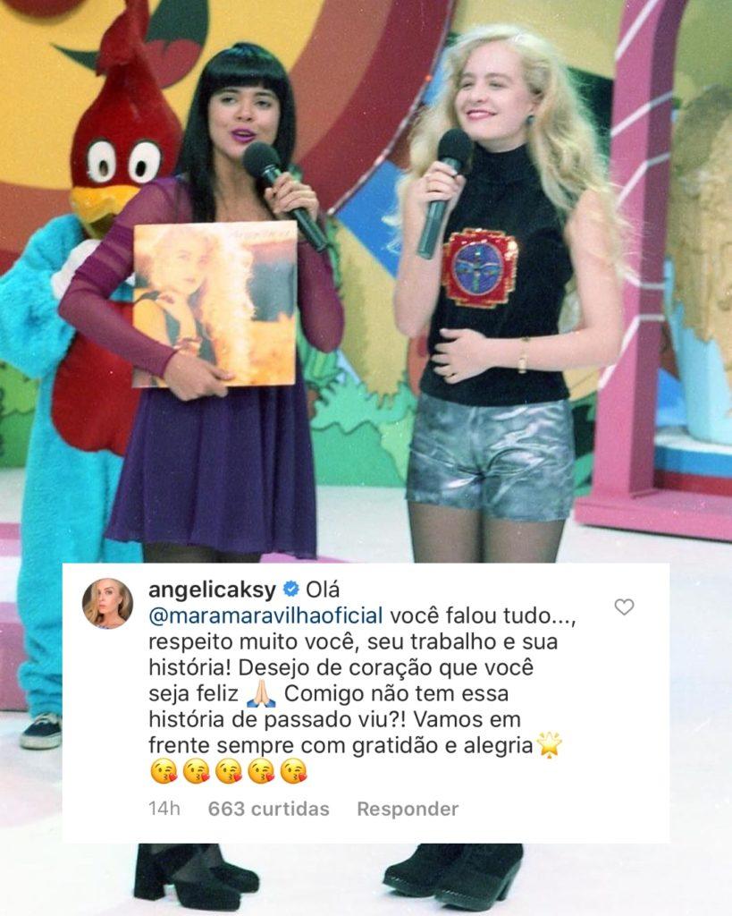 Angélica comenta publicação de Mara Maravilha (Foto: Montagem)