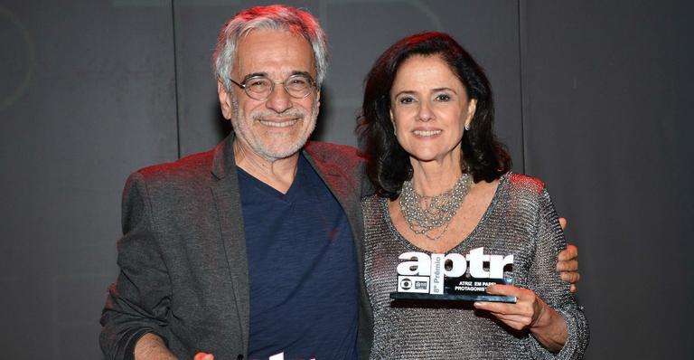 Marieta e seu marido Aderbal Freire Filho (Foto: Montagem)