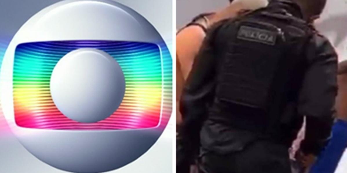 Ator da Globo foi revistado por policiais em favela (Imagem: Montagem/TV Foco)