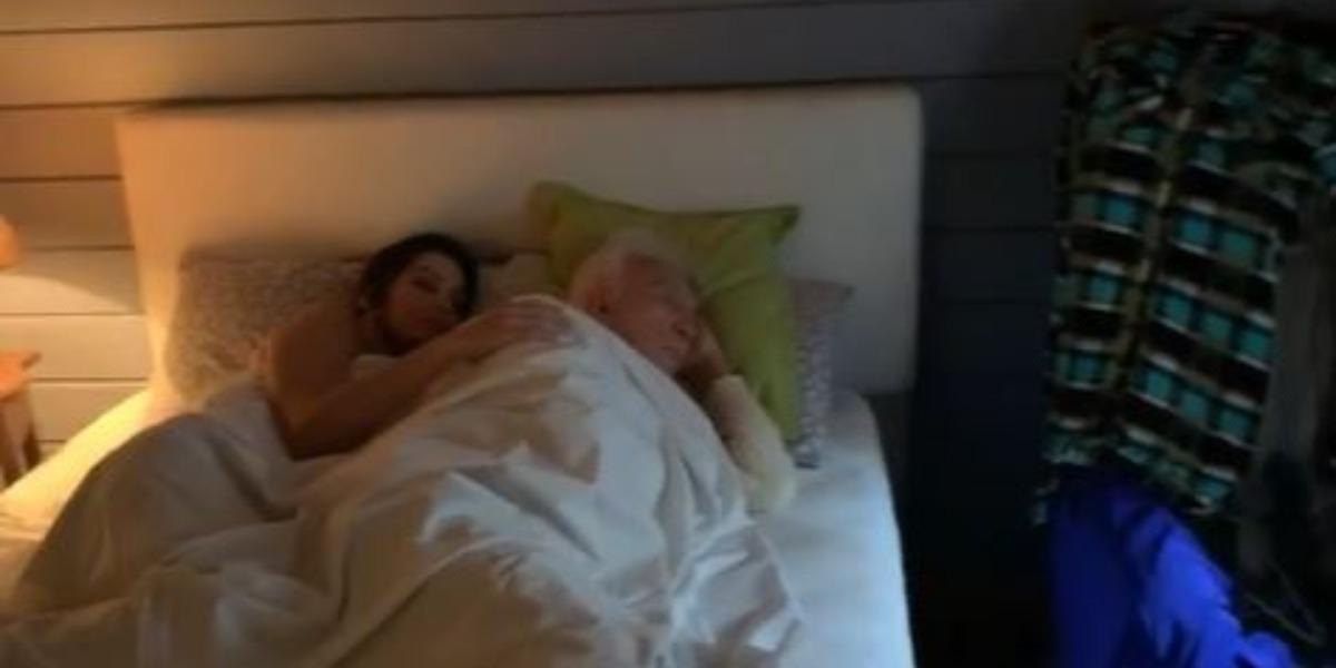 Moacyr Franco e Juliana Valiati (Foto: Reprodução/Instagram)