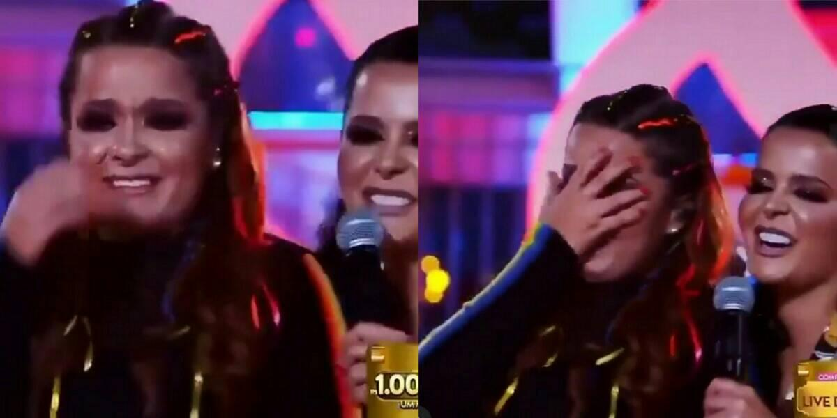 Maiara, em live com Maraisa, chora em live e sertaneja lembra Fernando Zor (Foto: Reprodução)