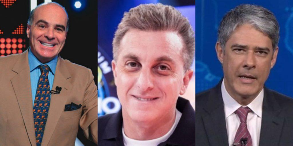 Marcelo de Carvalho, Luciano Huck e William Bonner (Foto: Montagem/TVFOCO)