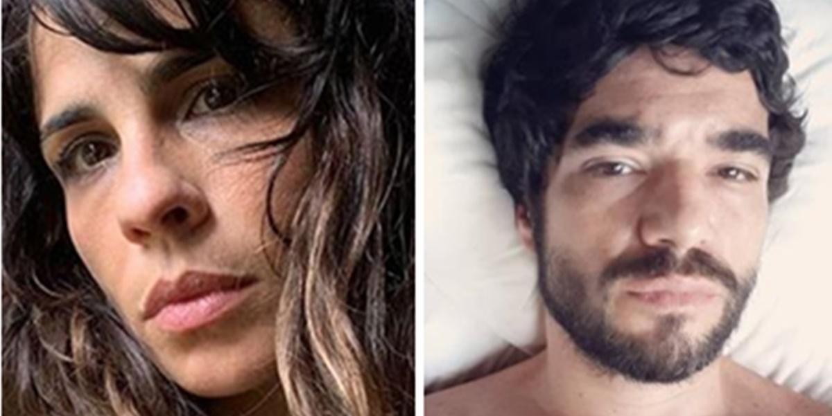 Maria Ribeiro e Caio Blat (Foto: Montagem/TV Foco)