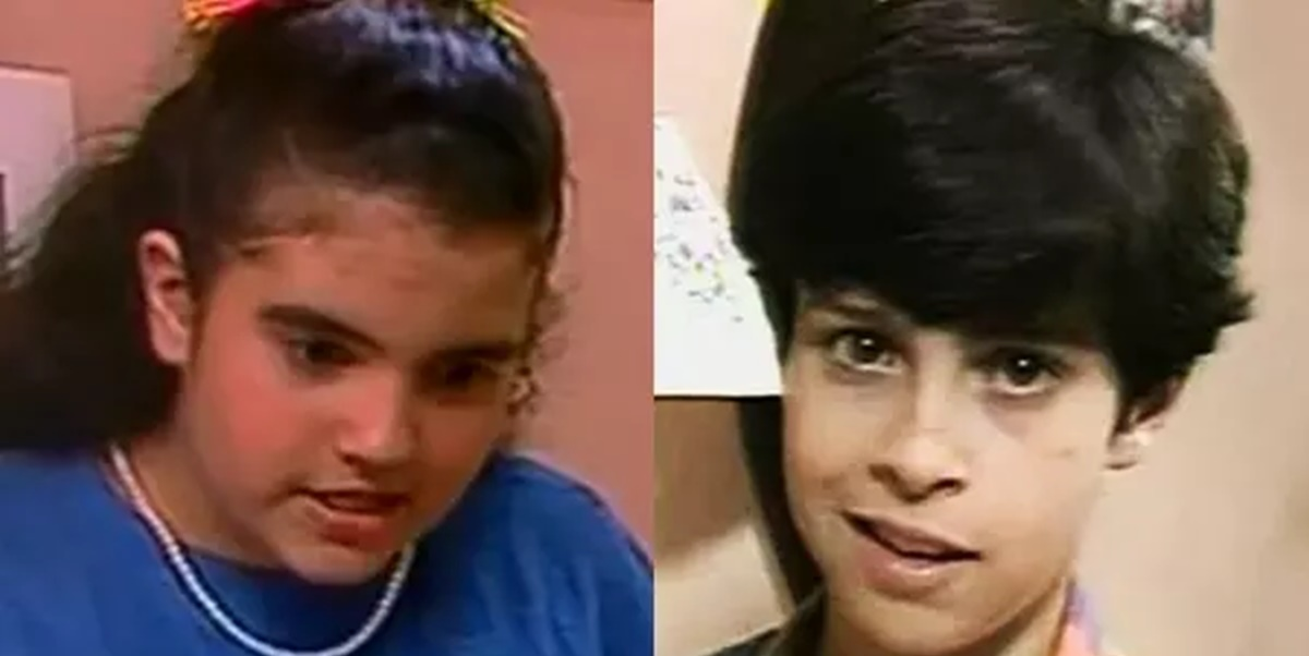 Mariana Blum e Luciano Amaral na época do seriado da TV Cultura (Foto: Montagem)