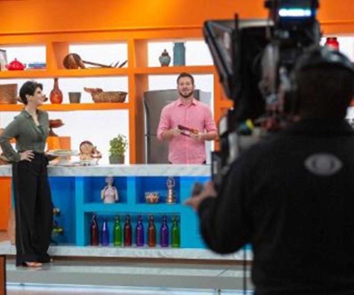 Cenário do programa de Mariana Godoy (Foto: Reprodução)
