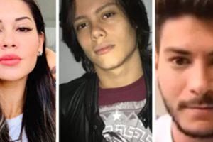 Mayra Cardi, Lucas e Arthur Aguiar (Foto: Montagem/TV Foco)