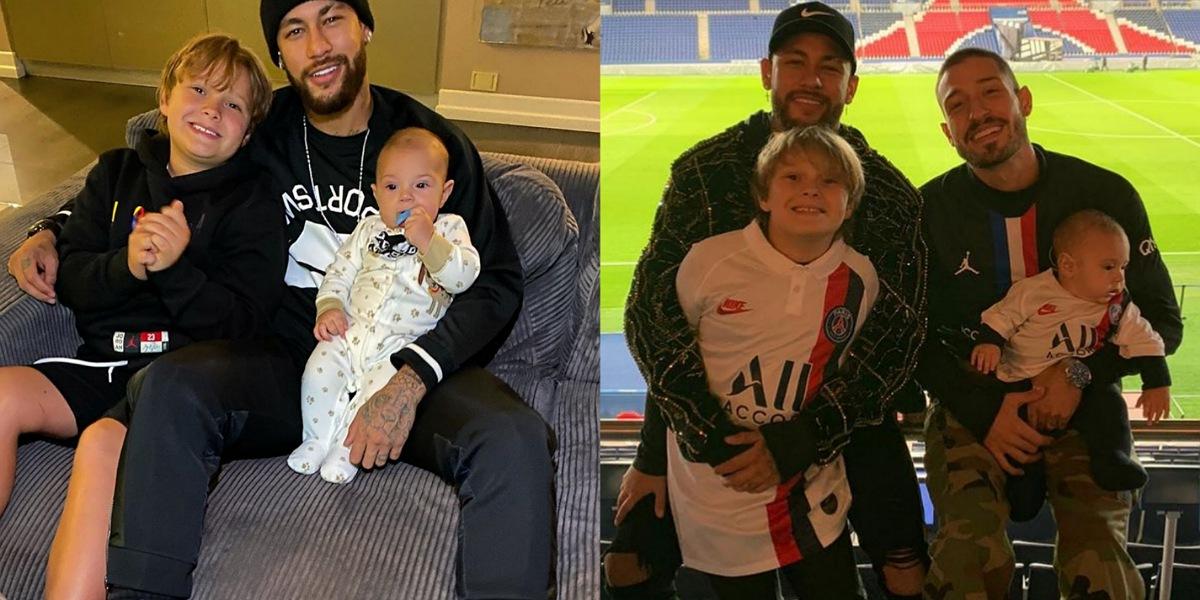 Neymar manda recado para Vinícius, padrasto de seu filho Davi Lucca (Foto: Reprodução/Instagram)