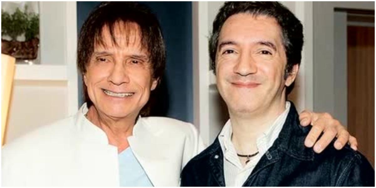 Roberto Carlos e Rafael Braga (Foto: Reprodução)