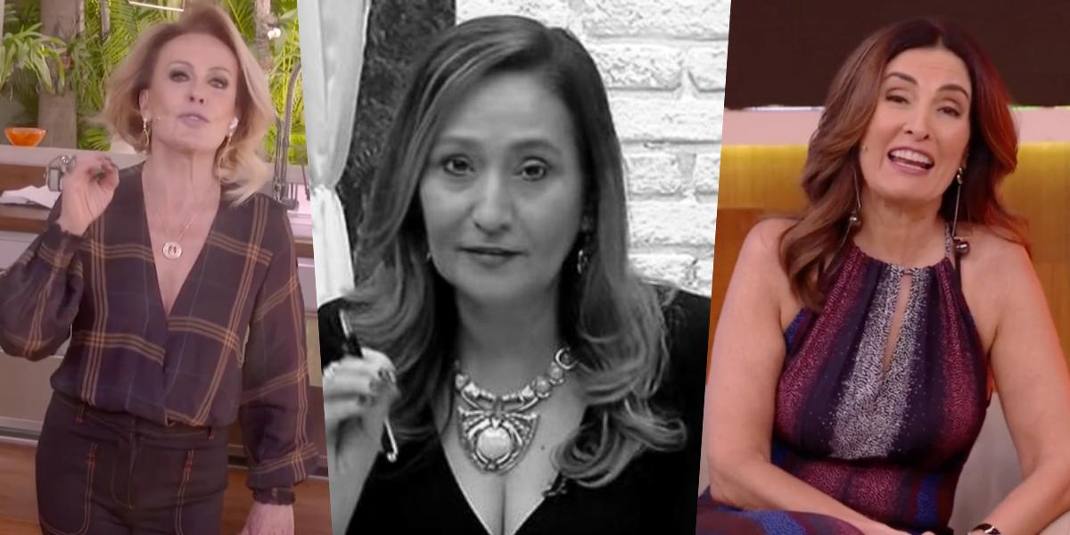 Sonia Abrão, Fátima Bernardes e Ana Maria Braga (Foto: Montagem)