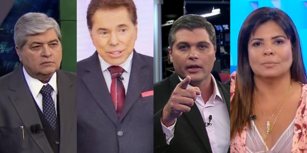 Silvio Santos cogita nomes de Datena, Joel Datena e Mara Maravilha para o Aqui Agora (Foto: Reprodução/SBT/Band)