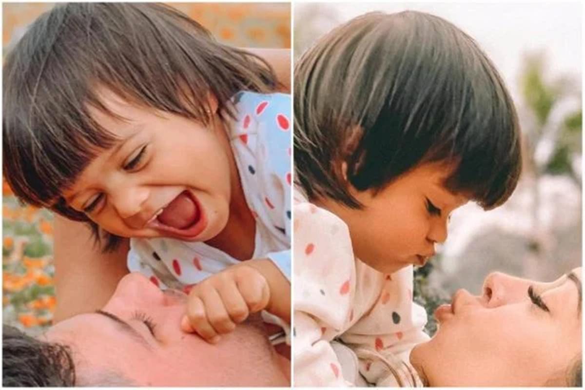Sophia em fotos com Arthur Aguiar e Mayra Cardi (Imagem: Montagem)
