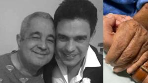 Zezé di Camargo e seu pai, Francisco (Foto: Montagem)
