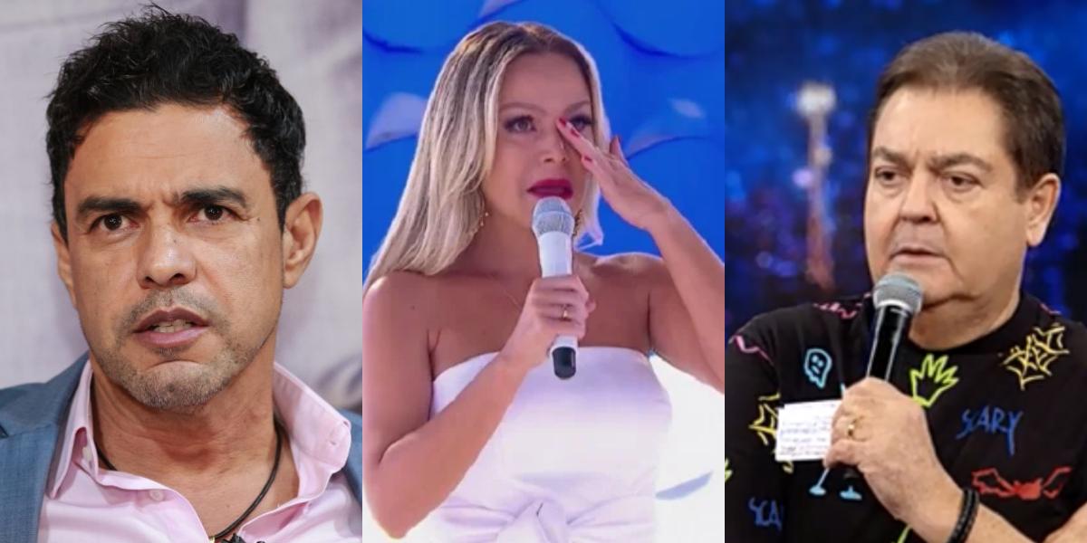 Zezé di Camargo, Eliana e Faustão vêm previsão de sensitiva (Foto: Montagem)