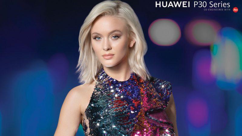 Zara Larsson era a garota propaganda da marca Huawei (Foto: Reprodução)