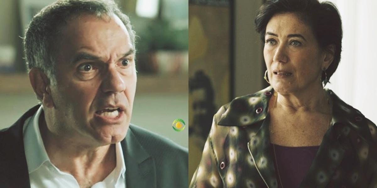 Eurico (Humberto Martins) e Silvana (Lilia Cabral) em A Força do Querer (Foto: Reprodução/Globo/Montagem/TV Foco)
