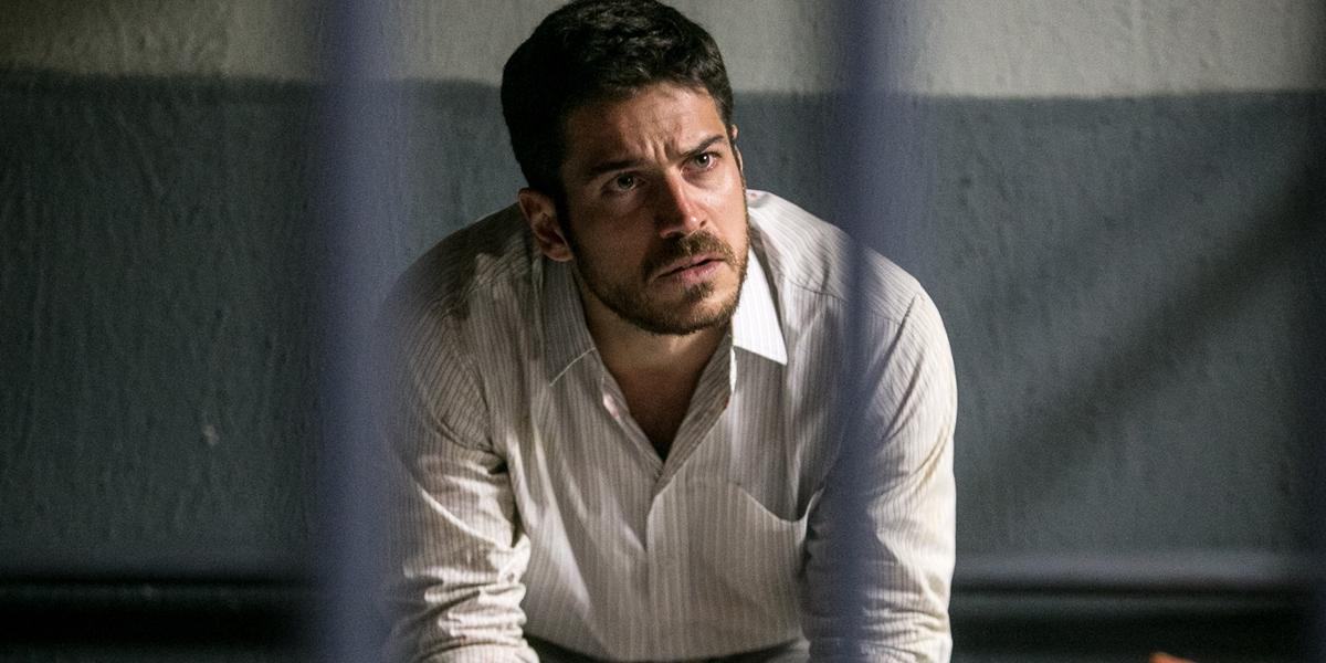 Zeca (Marcos Pigossi) na prisão em A Força do Querer (Foto: Globo/Raquel Cunha)