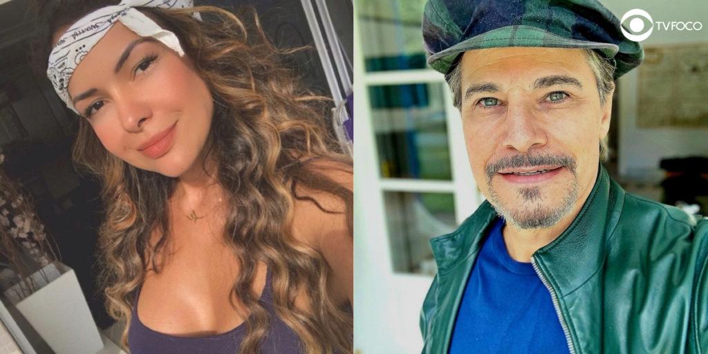Fotomontagem de Edson Celulari e Michelle Martins de A Força do Querer