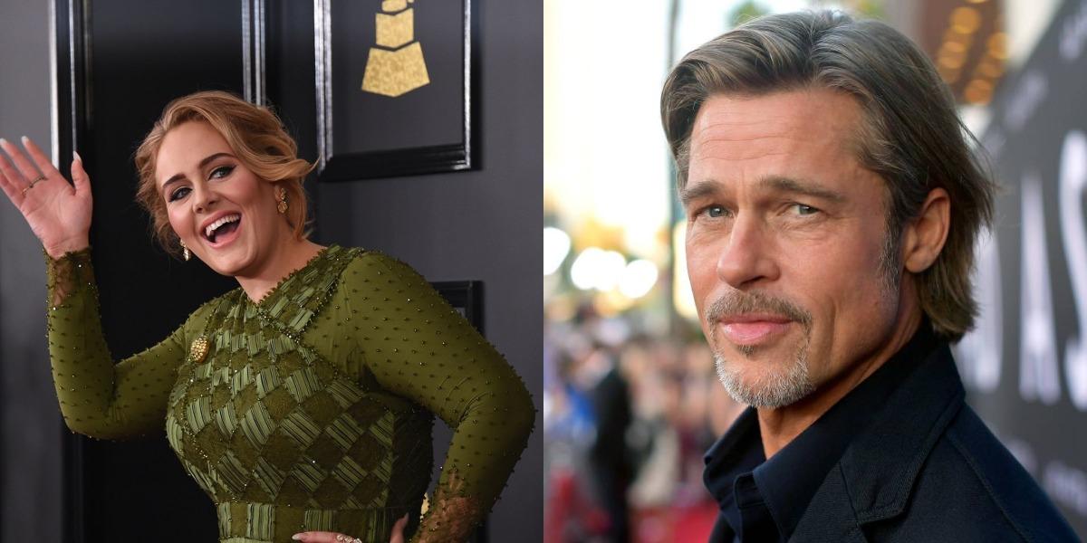Brad Pitt e Adele vivem affair (Foto: Reprodução)