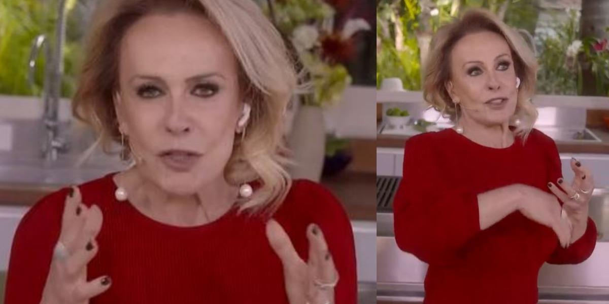 Ana Maria Braga durante o Encontro Com Fátima Bernardes de hoje (Foto: Reprodução/TV Globo)