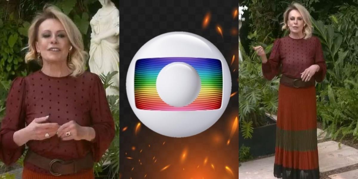 Ana Maria Braga em guerra na emissora (Foto: Reprodução/TV Globo)